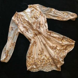 Sequined Gold Romper ✨